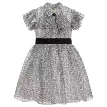 Dress As shown in the figure (delivery in early May) female Other / other 3a/98cm,4a/104cm,5a/110cm,6a/120cm,8a/130cm,10a/140cm,12a/150cm,14a/160cm Other 100% summer leisure time Long sleeves Broken flowers Pure cotton (100% cotton content) A-line skirt Class B Chinese Mainland