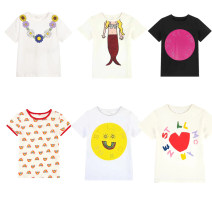 T-shirt White daisy, rainbow, mermaid, white letter, white smiley face, strawberry t Other / other 5a/110cm,6a/120cm,8a/130cm,10a/140cm,12a/150cm,14a/160cm female Cotton 100% 14, 13, 12, 11, 10, 9, 8, 7, 6, 5, 4, 3, 2 years old