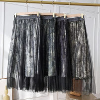 skirt Spring 2021 Average size Figure 1, figure 4, figure 2, figure 3 Short skirt commute A-line skirt Solid color Type A 18-24 years old FG513104 other other Gauze