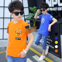 T-shirt Other / other 110cm,120cm,130cm,140cm,150cm,160cm male summer Short sleeve Crew neck There are models in the real shooting cotton