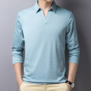 T-shirt Business gentleman 82172 light blue, 82172 white, 82172 black, 82172 gray thin 165 / M / 105 (100-120 kg), 170 / L / 110 (120-140 kg), 175 / XL / 115 (140-160 kg), 180 / XXL / 120 (160-180 kg), 185 / XXXL / 125 (180-200 kg) Others Long sleeves Lapel easy daily autumn middle age routine 2020