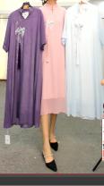 Dress Summer 2021 Purple, blue, pink Average size