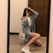 Fashion suit Summer 2020 Average size Apricot, light blue, black 18-25 years old