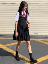 Fashion suit Summer of 2019 Average size, s, M White shirt (with tie), black dress 18-25 years old Other / other 81% (inclusive) - 90% (inclusive) cotton