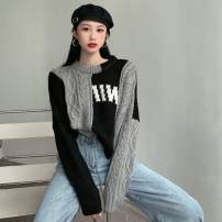 Wool knitwear Autumn 2020 Average size White, black Long sleeves singleton  Socket other 30% and below Regular commute easy routine Korean version 18-24 years old