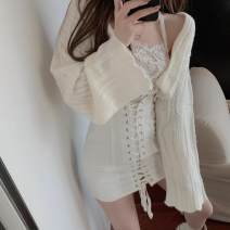 sweater Autumn 2020 S. M, average size Long sleeves Cardigan singleton  have cash less than that is registered in the accounts other 81% (inclusive) - 90% (inclusive) other commute routine Solid color Straight cylinder 18-24 years old Other / other Single breasted