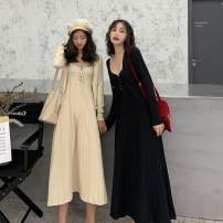 Fashion suit Autumn of 2019 Average size Black, apricot 18-25 years old 8.26B