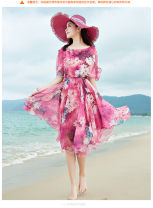 Dress Spring 2021 S,M,L,XL,2XL,3XL Mid length dress Fake two pieces Short sleeve Sweet other middle-waisted Decor Socket Ruffle Skirt Flying sleeve Others Ruffles, buttons, prints 81% (inclusive) - 90% (inclusive) Chiffon Bohemia
