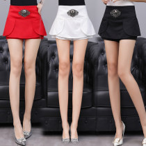 skirt Spring of 2018 S M L XL 2XL White, red, black Short skirt sexy High waist Fluffy skirt Solid color Type A 18-24 years old 91% (inclusive) - 95% (inclusive) other polyester fiber Lotus leaf edge