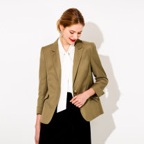 Women's large Spring 2021 Exquisite handmade edge, high end wool yellowish XL (size 40), 2XL (size 42), 3XL (size 44), 4XL (size 46), 5XL (size 48), 6xl (size 50), l (size 38) suit singleton  commute Cardigan Korean version Wool, polyester DS-5145S April 9th 25-29 years old