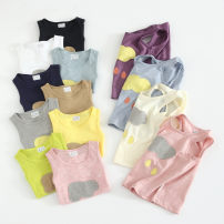 Vest sling Sleeveless summer Other / other neutral No model leisure time other Crew neck nothing Pure cotton (95% and above) Cotton 95% other 5% Class B 18 months, 2 years old, 3 years old, 4 years old, 5 years old, 6 years old, 7 years old