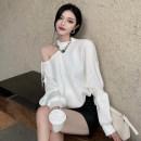 Fashion suit Spring 2021 S. M, l, average size Black, white, short skirt 51% (inclusive) - 70% (inclusive)