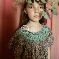 Dress Purple Lace Floral Dress female Other / other 2Y,4Y,6Y,8Y,10Y Cotton 100% summer lady Short sleeve cotton A-line skirt