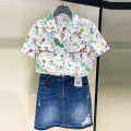 shirt white 2 / s, 3 / m, 4 / L, 5 / XL Summer 2021 cotton 96% and above Short sleeve Versatile Regular Polo collar Single row multi button routine other Straight cylinder O'amash banner pure cotton