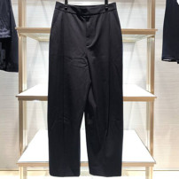 Casual pants black 1 / XS, 2 / s, 3 / m, 4 / L, 5 / XL Spring 2021 trousers Straight pants High waist Versatile routine 51% (inclusive) - 70% (inclusive) Pinge Dixin other