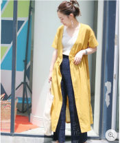 Dress Spring 2021 Brown, yellow, white, blue, black One size fits all (small flaw)