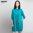 Dress Autumn 2016 blue S,M,L,XL Mid length dress singleton  elbow sleeve Sweet Polo collar Elastic waist Solid color Single breasted other routine Others 30-34 years old Type H Button, pocket FC16A0036 91% (inclusive) - 95% (inclusive) other hemp college