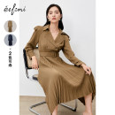 Dress Summer 2021 Cangqing spot olive green spot Cangqing presale olive green presale olive green presale 1 155/80A/S 160/84A/M 165/88A/L longuette singleton  Long sleeves commute High waist Solid color double-breasted A-line skirt 25-29 years old Type X Eifini  lady Button 1B8995981 More than 95%