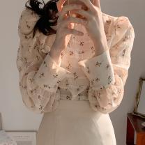 shirt Shirt, skirt S,M,L Autumn 2020 polyester fiber 71% (inclusive) - 80% (inclusive) Long sleeves Sweet Regular Broken flowers