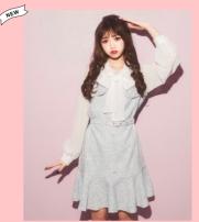 Dress Spring 2021 Light blue, gray, pink M