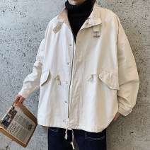 Jacket Other / other Youth fashion Black, army green, white M,L,XL,2XL routine easy Other leisure autumn Long sleeves Wear out Lapel Youthful vigor youth routine Zipper placket 2019 Cloth hem other Cloth decoration (covering other fabrics) Three dimensional bag