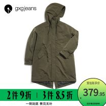 Windbreaker Black, army green gxg.jeans Youth fashion Front and middle zip placket have more cash than can be accounted for standard Other leisure winter youth Hood (not detachable) Polyester 100% polyester fiber More than 95%