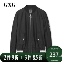 Jacket GXG Youth fashion black 165/S,170/M,175/L,180/XL,185/XXL,190/XXXL routine standard Other leisure spring Polyester 100% Long sleeves Wear out Baseball collar Youthful vigor routine Zipper placket Closing sleeve