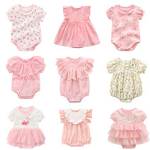 Jumpsuit / climbing suit / Khaki Other / other Class A female Tag 59 suggests 0-2 months, tag 66 suggests 3-4 months *, tag 73 suggests 5-7 months *, tag 80 suggests 8-12 months cotton summer Short sleeve Trigonometry princess Official pictures nothing Cotton 100% Socket