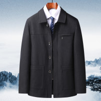 Jacket Other / other Business gentleman 388 black, 388 dark blue 175 (suitable for 90-120 kg), 180 (suitable for 120-140 kg), 185 (suitable for 140-160 kg), 190 (suitable for 160-180 kg), 195 (suitable for 180-200 kg) thin easy Other leisure autumn Long sleeves Wear out Lapel Business Casual old age