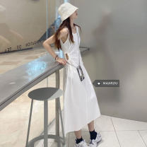 Dress Summer 2021 White, purple, black Average size Mid length dress singleton  Sleeveless commute High waist Socket One pace skirt routine 18-24 years old Korean version 51% (inclusive) - 70% (inclusive)
