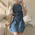 Dress Summer 2021 Picture color Average size Short skirt singleton  elbow sleeve commute Crew neck High waist A-line skirt puff sleeve Others 18-24 years old Korean version 51% (inclusive) - 70% (inclusive)