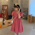 Dress Summer 2021 White, watermelon red, black Average size Short skirt singleton  Short sleeve commute V-neck Loose waist Big swing routine 18-24 years old Korean version 51% (inclusive) - 70% (inclusive)