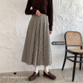 skirt Spring 2021 S,M,L Black, brown Mid length dress commute High waist A-line skirt lattice Type A 18-24 years old 51% (inclusive) - 70% (inclusive) other Other / other other Korean version