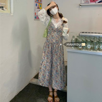 Fashion suit Summer 2021 Average size Suspender skirt, shirt 18-25 years old 51% (inclusive) - 70% (inclusive)