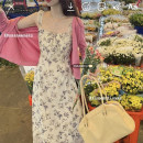 Dress Summer 2021 Floral sling S, M Mid length dress singleton  Sleeveless commute other High waist Broken flowers Socket other other camisole 18-24 years old Type A Korean version 51% (inclusive) - 70% (inclusive) Chiffon
