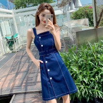 Dress Spring 2021 blue S,M,L,XL 18-24 years old Other / other 7 31 2