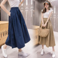 Casual pants Army green, khaki, blue, black Average size Spring 2021 Cropped Trousers Wide leg pants High waist commute 25-29 years old 81% (inclusive) - 90% (inclusive) Other / other Cotton blended fabric Korean version pocket