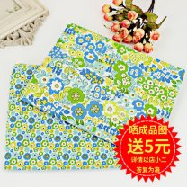 Fabric / fabric / handmade DIY fabric cotton Big flower, small flower Loose shear piece Plants and flowers printing and dyeing clothing Japan and South Korea 100%