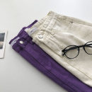 skirt Summer 2021 S,M,L Purple, white Short skirt commute High waist Solid color Type A 18-24 years old 51% (inclusive) - 70% (inclusive) Korean version