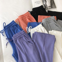 Casual pants Sapphire blue, black, gray, white, purple, orange Average size Spring 2021 trousers Straight pants High waist commute routine 18-24 years old 51% (inclusive) - 70% (inclusive) Korean version pocket