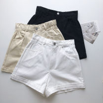 Jeans Summer 2021 Black, white, apricot, orange S,M,L shorts High waist Wide legged trousers routine 18-24 years old Button 51% (inclusive) - 70% (inclusive)