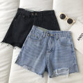 Jeans Summer 2021 Blue, black S,M,L shorts High waist Wide legged trousers routine 18-24 years old 51% (inclusive) - 70% (inclusive)