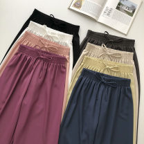 Casual pants White, black, blue, dark brown, yellow, pink, apricot, purplish red Average size Summer 2021 trousers Wide leg pants High waist commute routine 18-24 years old 51% (inclusive) - 70% (inclusive) Korean version