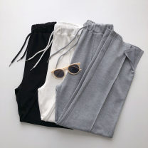 Casual pants Gray, black, white Average size Summer 2021 trousers Wide leg pants High waist commute routine 18-24 years old 51% (inclusive) - 70% (inclusive) Korean version pocket