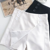 Casual pants Black, white S,M,L Summer 2021 shorts Wide leg pants High waist commute routine 18-24 years old 51% (inclusive) - 70% (inclusive) Korean version Button