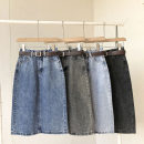 skirt Spring 2021 S,M,L Black, light blue, dark blue, smoke gray Middle-skirt commute High waist Solid color Type H 18-24 years old 51% (inclusive) - 70% (inclusive) pocket Korean version