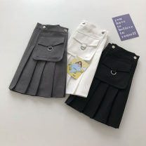 skirt Summer 2021 S,M,L Dark grey, black, white Short skirt commute High waist Solid color Type A 18-24 years old 51% (inclusive) - 70% (inclusive) pocket Korean version