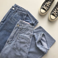 Jeans Summer 2021 Blue, light blue S,M,L trousers High waist Wide legged trousers routine 18-24 years old 51% (inclusive) - 70% (inclusive)