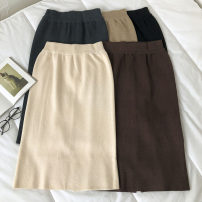 skirt Winter 2020 Average size Mid length dress commute High waist Solid color Type H 18-24 years old 51% (inclusive) - 70% (inclusive) Korean version