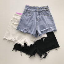 Jeans Summer 2021 Blue, white, black S,M,L shorts High waist Wide legged trousers routine 18-24 years old